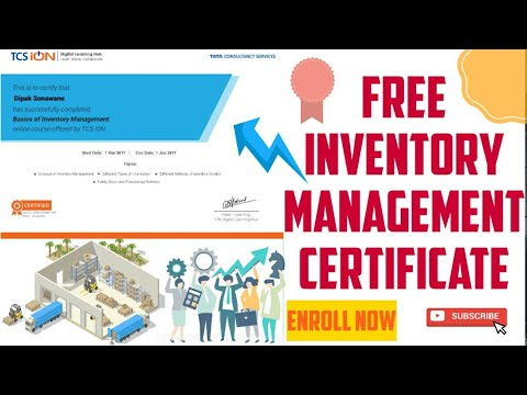 Free inventory management certification courses - YouTube