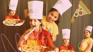 CARLOS  VS  CAMILA   pizza challenge ft. Naughty chef