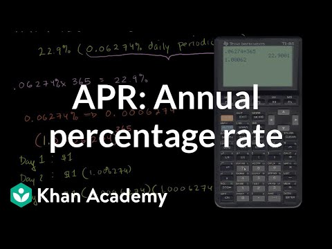 Annual percentage rate (APR) and effective APR (video) Khan Academy - simple credit card calculator