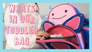 What's in our Toddler bag | Skip Hop Review