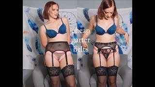 Try On And Review Of Some Cheap Garter Belts
