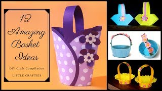 12 Amazing DIY Basket Ideas | Easter Basket Ideas | Basket Making DIY Craft