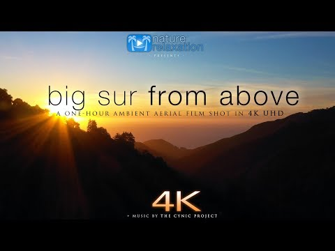 BIG SUR FROM ABOVE 1HR Drone Film by Nature Relaxation™ + Music & Ocean Sounds