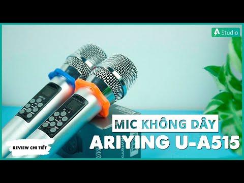Mic không dây ARIYING U-A515| Micro đa năng chuyên dùng cho loa kéo di động hoặc amply