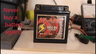 How to bring your motorcycle battery back to life (DIY)
