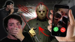 CALLING JASON VORHEES ON FACETIME!! (HE ANSWERED) KILLER FROM FRIDAY THE 13TH *he cut my bestfriend*