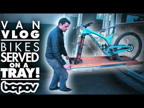 SLIDING TRAY BIKE RACK! | Camper Van Vlog #3