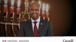 Message du ministre Hussen à l'occasion de Hanoukka