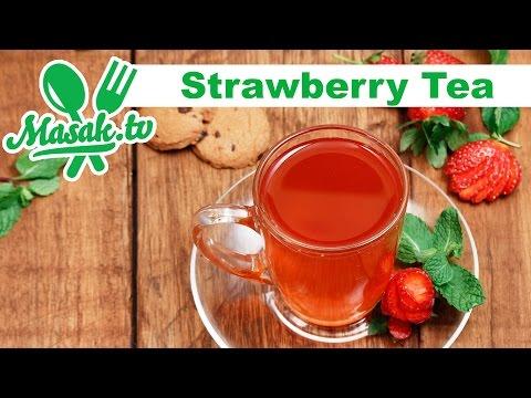 Video Teh Stroberi - Strawberry Tea | minuman #088