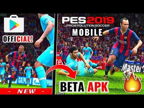 PES 2019 MOBILE BETA - APK + OBB LINK DOWNLOAD - смотреть