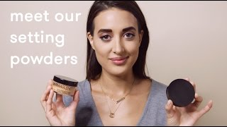 how to apply setting powder