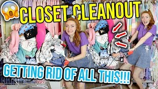 EXTREME CLOSET CLEANOUT 2020 | MASSIVE WARDROBE CLEAR OUT