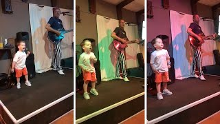 Cute Toddler Jumps On Stage And Steals The Show