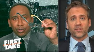 'You need glasses!' - Stephen A. offers his shades to Max during a Tom Brady debate   First Take