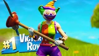 The New Clown Skin Gameplay In Fortnite..