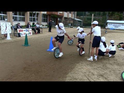 種子島の学校活動:上西小学校一輪車リレーマラソン大会2018年