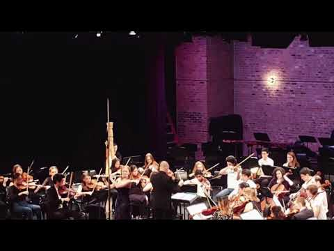 """Solo performance of """"Poem"""" with the Columbia University Orchestra"""