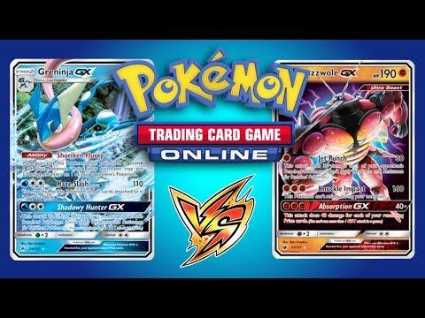 Greninja GX vs Buzzwole GX / Lycanroc GX – Pokemon TCG Online Gameplay