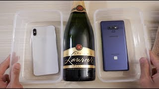 iPhone XS Max vs Note 9 - Champagne Test!