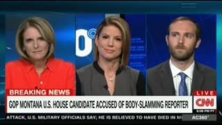 CNN Panel discussion on Republican candidate Greg Gianforte charged with assault after