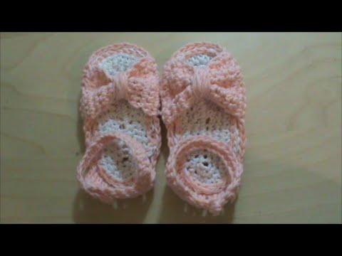 Βρεφικά παπουτσάκια με βελονάκι. Πλεκτά παιδικά σανδάλια 98af80f26b9