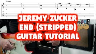 How To Play Jeremy Zucker End (stripped) Guitar Tutorial Lesson