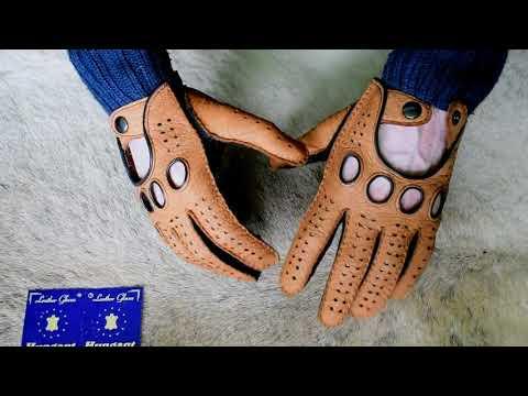Peccary Autohandschuhe Handgefertigt und Handgenäht