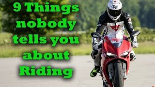 9 Things Nobody tells you about Riding Motorcycles