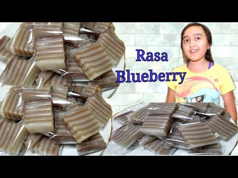 Kue Lapis Recipe. Rasa Blueberry  Indonesian Dessert.