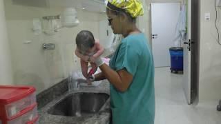 Primeiro Banho No Hospital Unimed