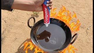 Boiling Colgate In Hot Oil Experiment || Hot Oil Vs Colgate Experiment || Experiment King