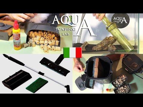 Aquascaping Lab - Pulizia e manutenzione acquario, composizione del filtro, sifone, lame antialga