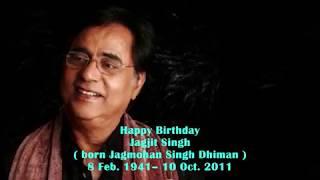 mera geet amar kar do Jagjit Singh Happy Birthday a tribute