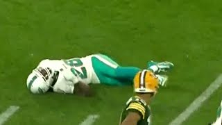Bobby McCain Knocked Out On Illegal Blindside Block | Dolphins vs. Packers | NFL