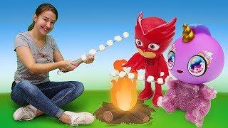 Видео Веселая школа про игрушки. Алетт, Единорожка, Куклы Лол и Челси в лагере!