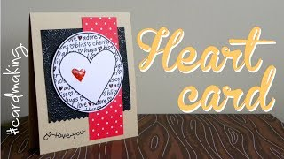 Valentine's Day: Heart card