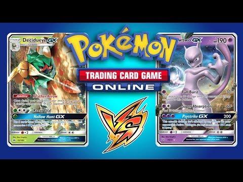 Decidueye GX vs Buzzwole GX and Mewtwo GX – Pokemon TCG Online Gameplays
