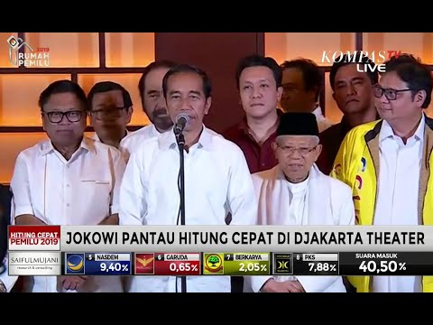 Hasil Hitung Cepat Pemilu, Jokowi: Kita Harus Bersabar Tunggu Hasil KPU
