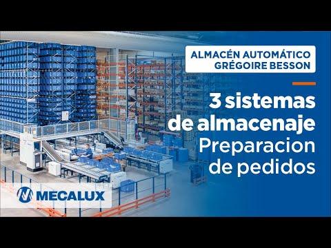 Tres sistemas de almacenaje en el centro logístico de Grégoire-Besson   Mecalux