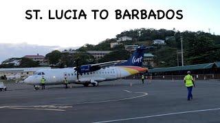 ST. LUCIA TO BARBADOS | LIAT | ATR 42-600 | TRIP REPORT