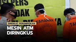 Sindikat Perampok Mesin ATM Diringkus Polisi, dalam Aksinya dengan Modus Mengganjal Mesin ATM