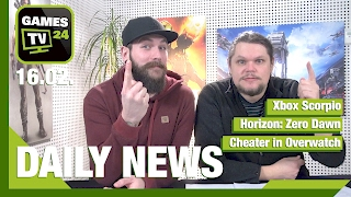 Xbox Scorpio, Horizon: Zero Dawn, Cheater in Overwatch | Games TV 24 Daily - 16.02.2017