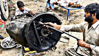 How to Replace A Hino Truck Transmission- How To CHANGE Gearbox OF A HinoTruck   