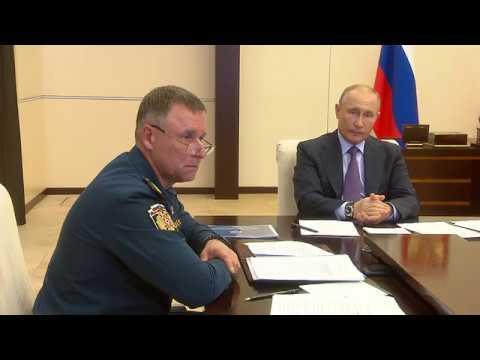 Министр МЧС России Евгений Зиничев доложил Владимиру Путину о ситуации с паводками и пожарами