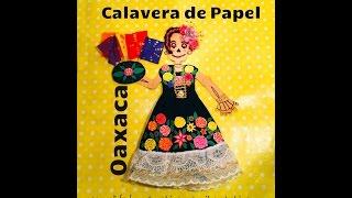 DIY Decora calavera de papel estilo Oaxaca Dia de Muertos Decorate paper skeleton