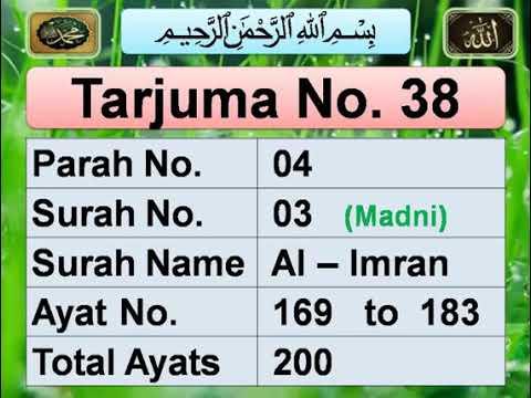 Download] Surah Imran (Verse:169-183) Urdu Translation/Daily