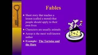 Intro to Folktales: Fables