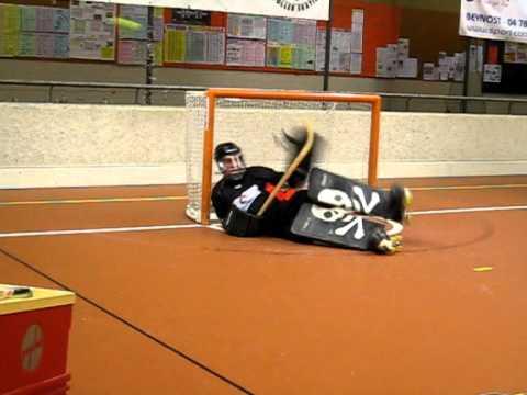 Hockey sobre patines entrenamiento portero Alejandro Marasco