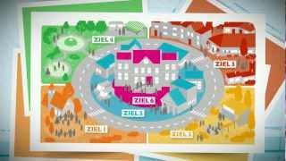 Standbild aus Unternehmensfilm: animierte Karte