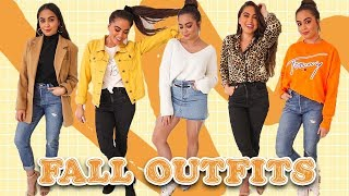 25 FALL OUTFIT IDEAS //  Styling Fall Trends + Thrifted Pieces  ♡